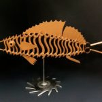"""Copper Trowel Fish"" $245. Available at Noyes Art Gallery, 119 S 9th St., Lincoln, NE. (402) 475-1061."