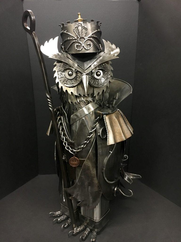 The Owl King Metal Sculpture