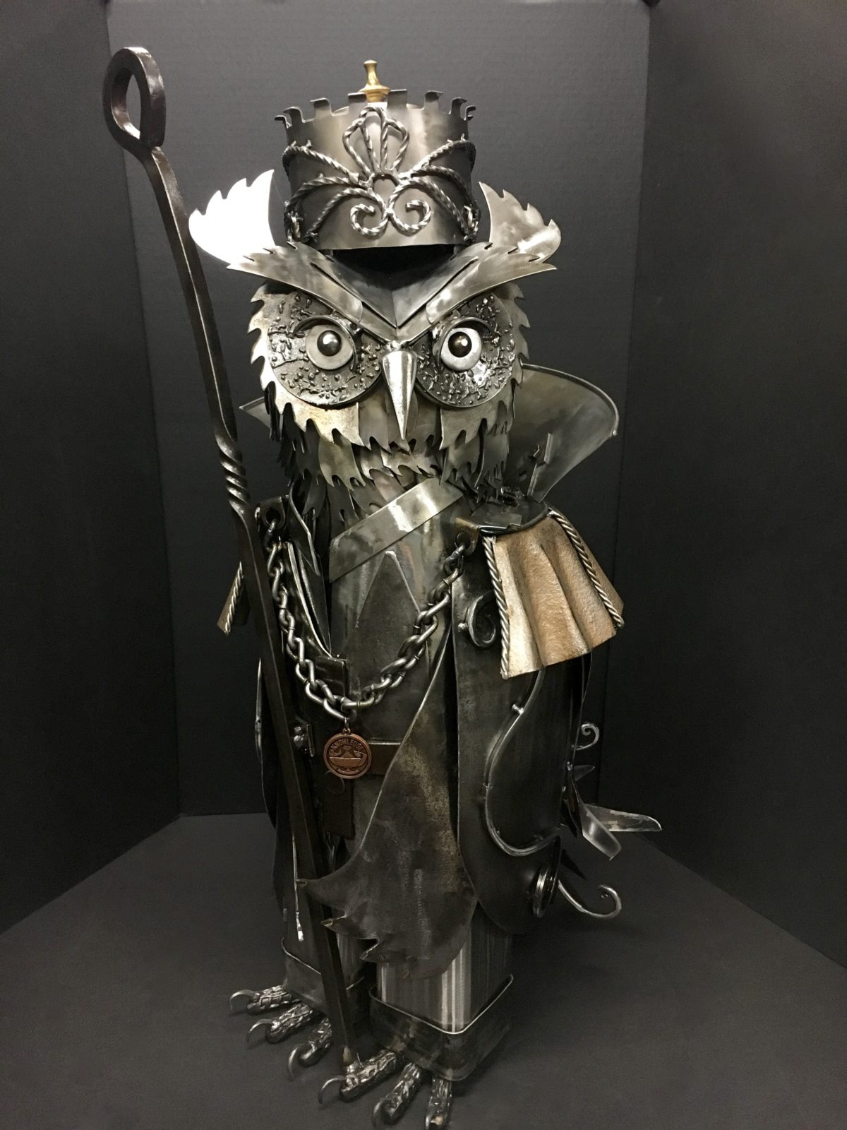 The Owl King Metal Sculpture