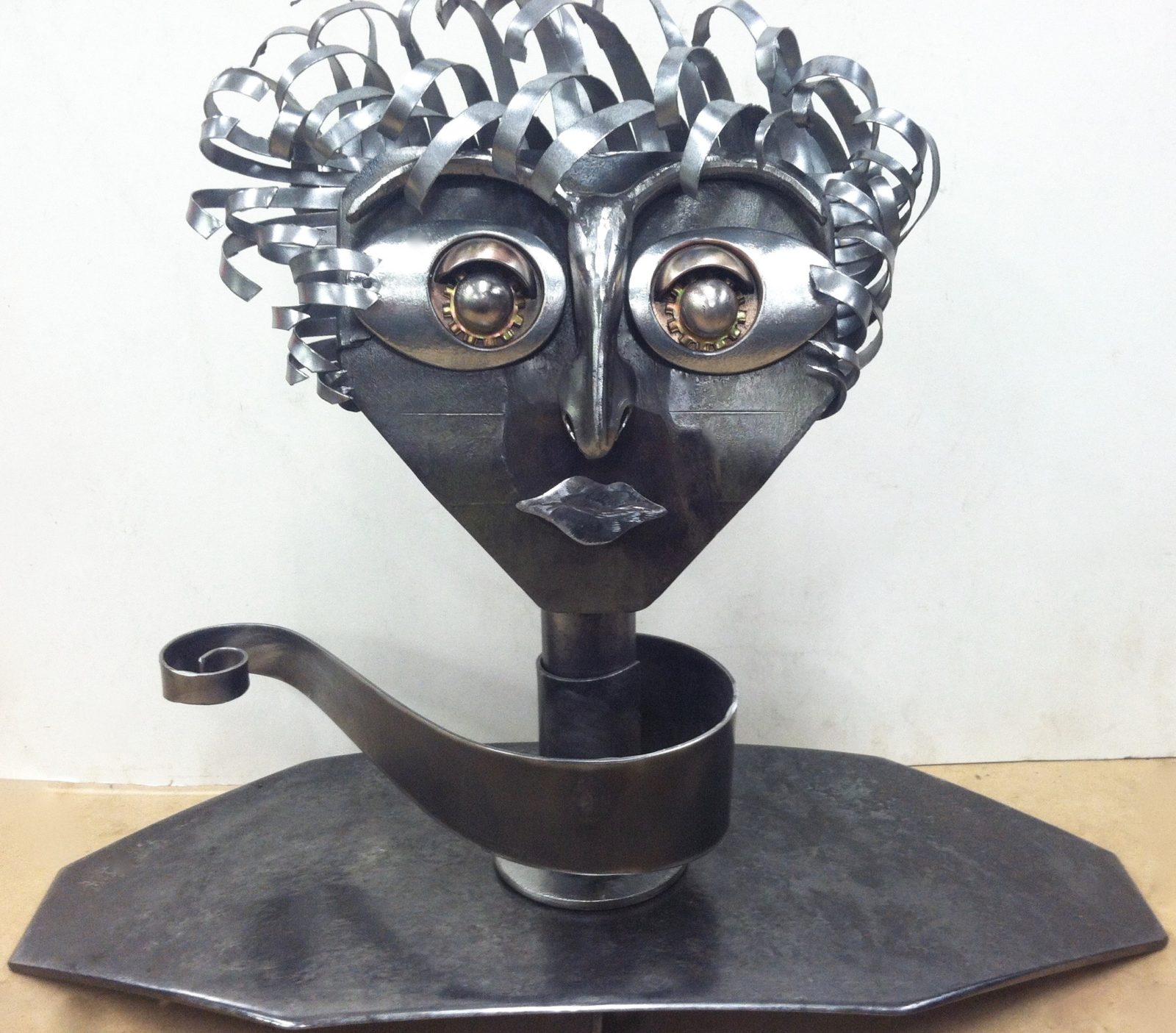 Windy metal sculpture
