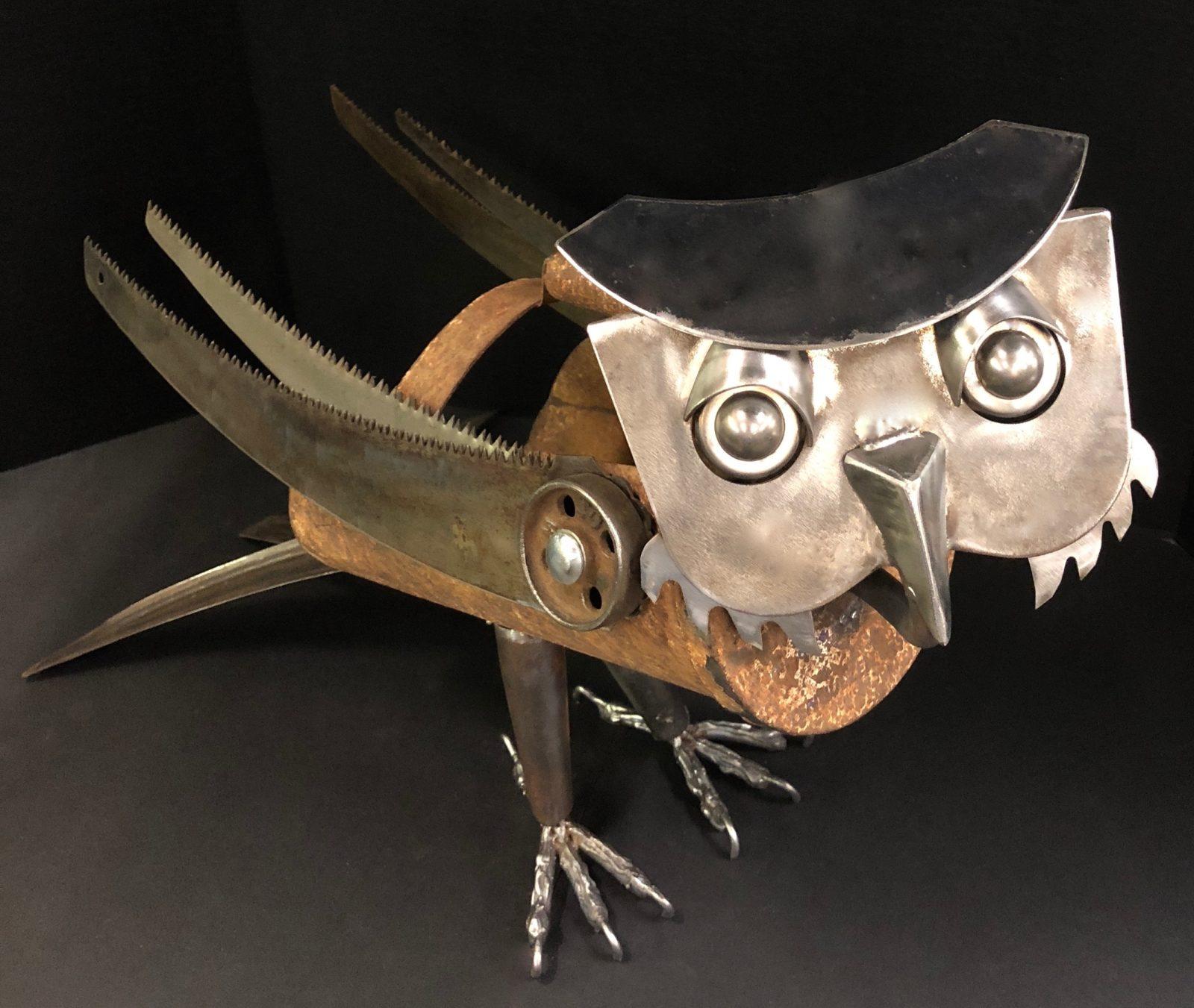 Harrison Owl metal sculpture