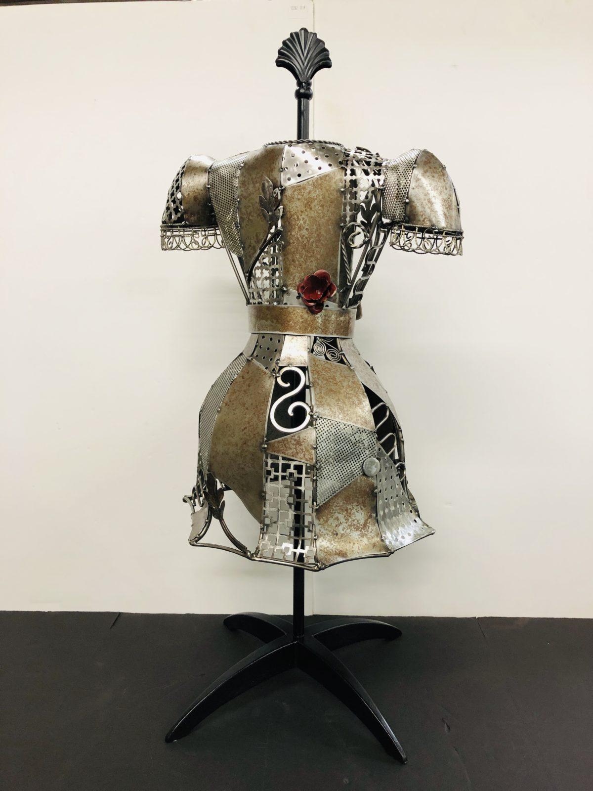 Carolyn's Good Dress metal sculpture