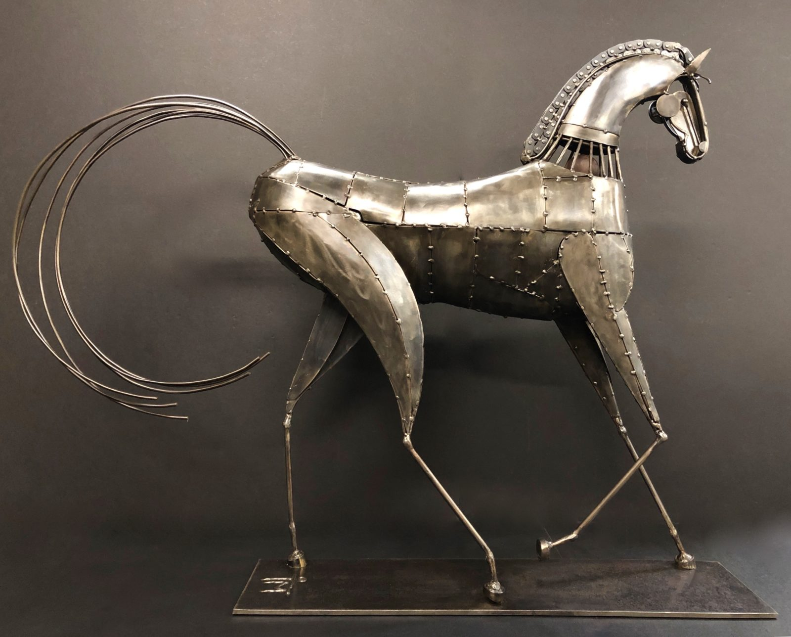 The Tennessee Stud metal sculpture