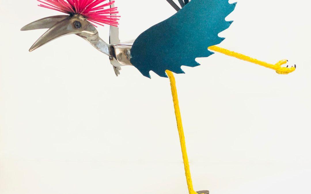 Pink Crowned Crane – SOLD