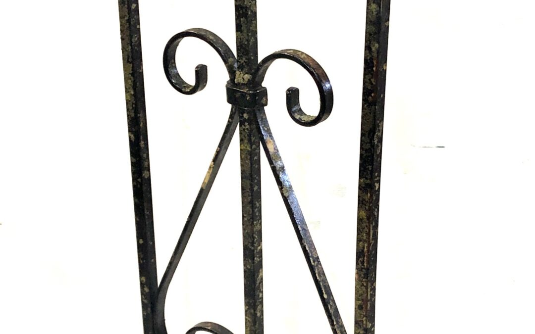Cardinal on Wrought Iron Gate — SOLD